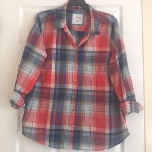 Sonoma Everyday Fall Plaid Button Down Shirt XL